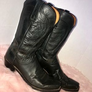 1883 lucchese black cowboy boots